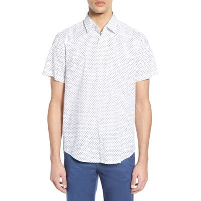 Boss Rash Regular Fit Palm Print Shirt, White