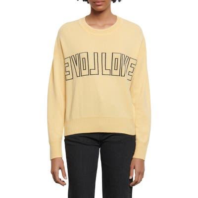 Sandro Yelli Wool & Cashmere Sweater, (fits like 8 US) - Yellow