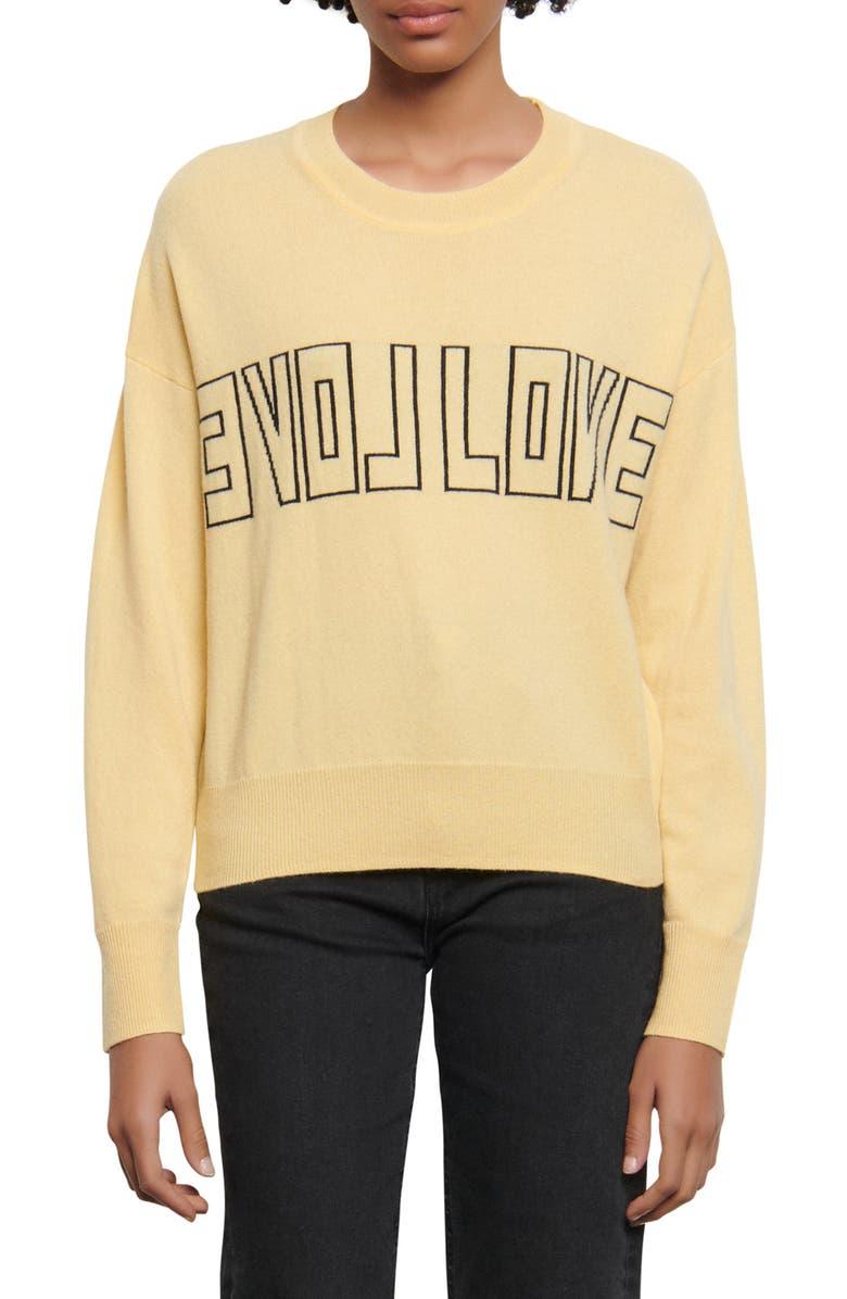 SANDRO Yelli Wool & Cashmere Sweater, Main, color, 700
