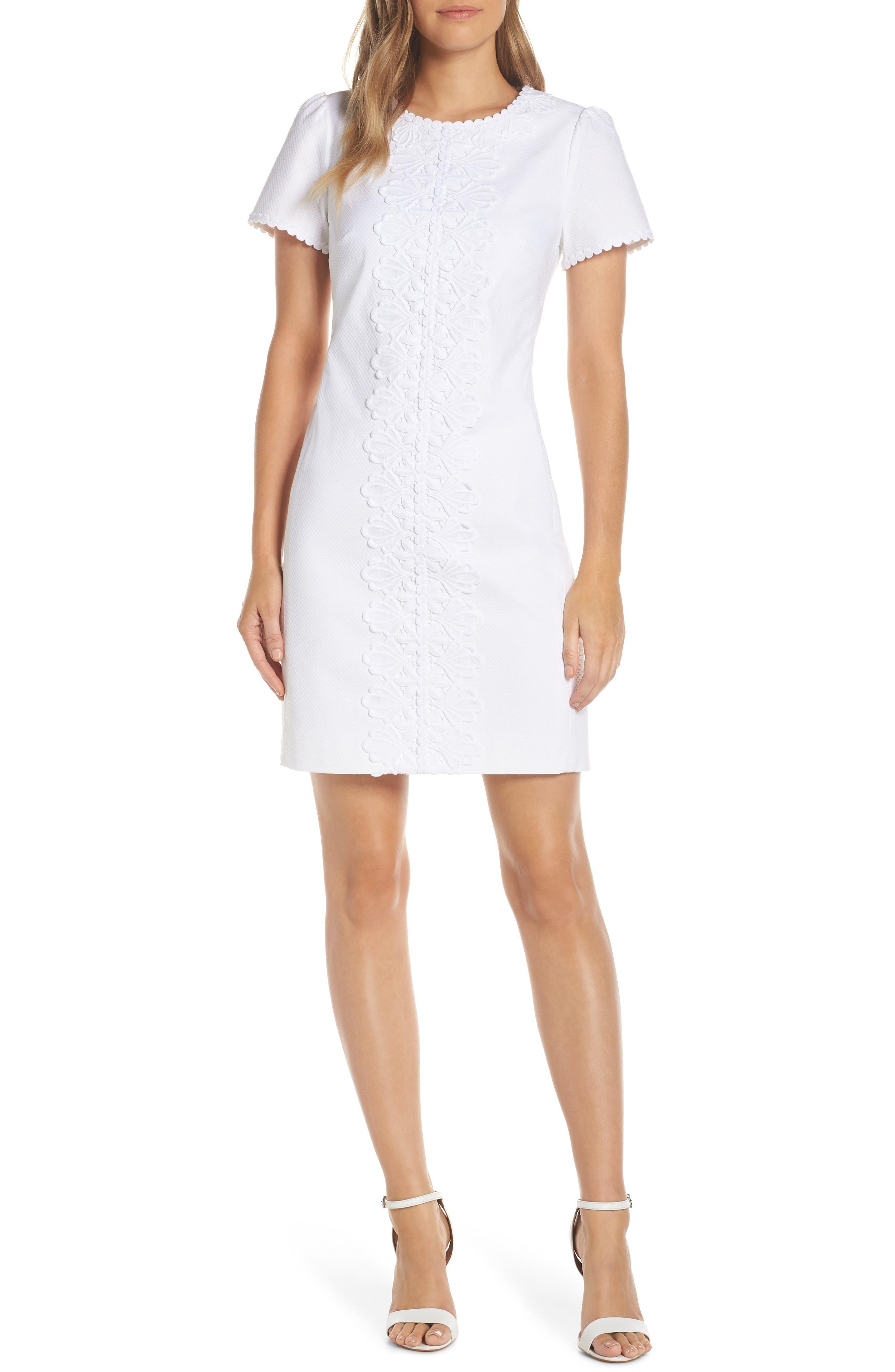 Lilly Pulitzer Maisie Stretch Pique Sheath Dress, White