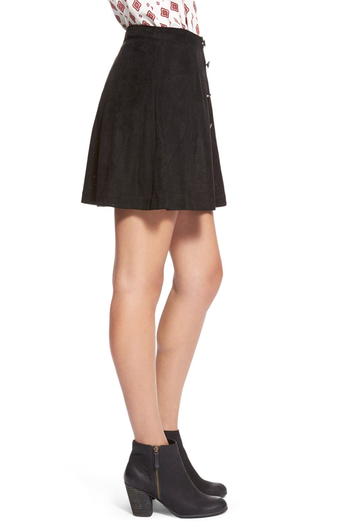 ,                             Button Front Skirt,                             Alternate thumbnail 2, color,                             015