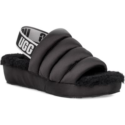 Ugg Puff Yeah Slide, Black