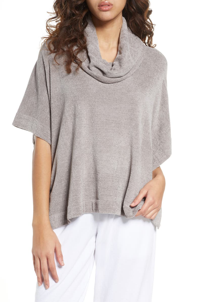BAREFOOT DREAMS<SUP>®</SUP> CozyChic<sup>™</sup> Ultra Lite Cowl Neck Pullover, Main, color, BEACH ROCK