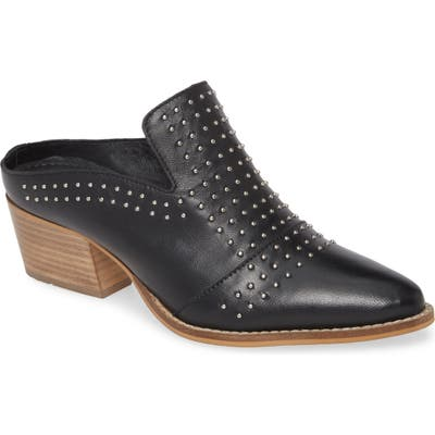 Very Volatile Russo Studded Mule, Black