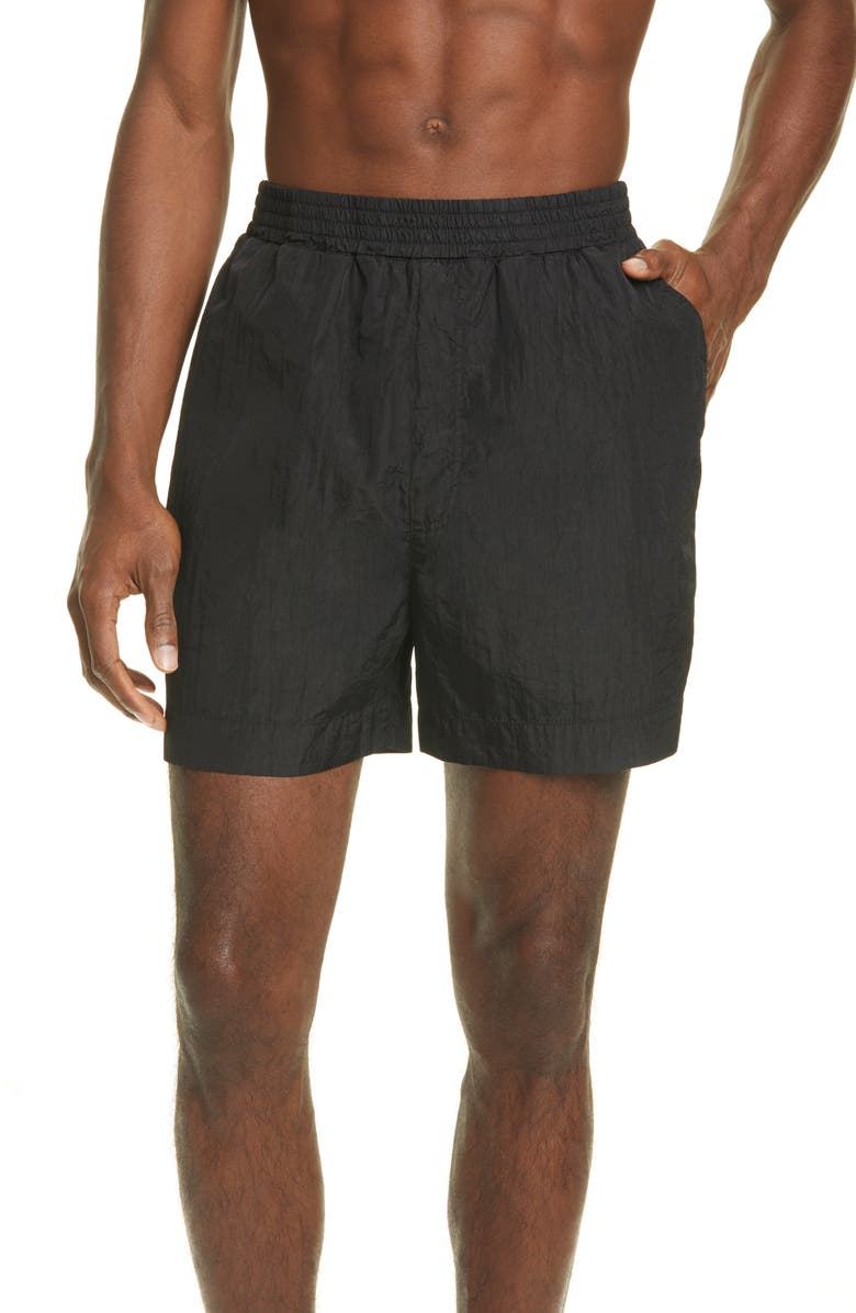 1017 ALYX 9SM Garment Dyed Swim Trunks, Main, color, BLACK