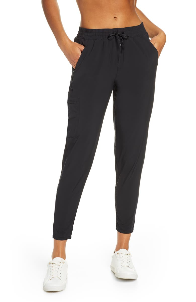 ZELLA Community Canyon Ankle Pants, Main, color, BLACK