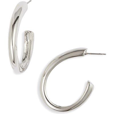 Halogen Modern Oval Hoop Earrings