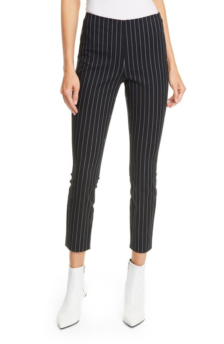RAG & BONE Simone Pinstripe Pants, Main, color, BLACK WHITE