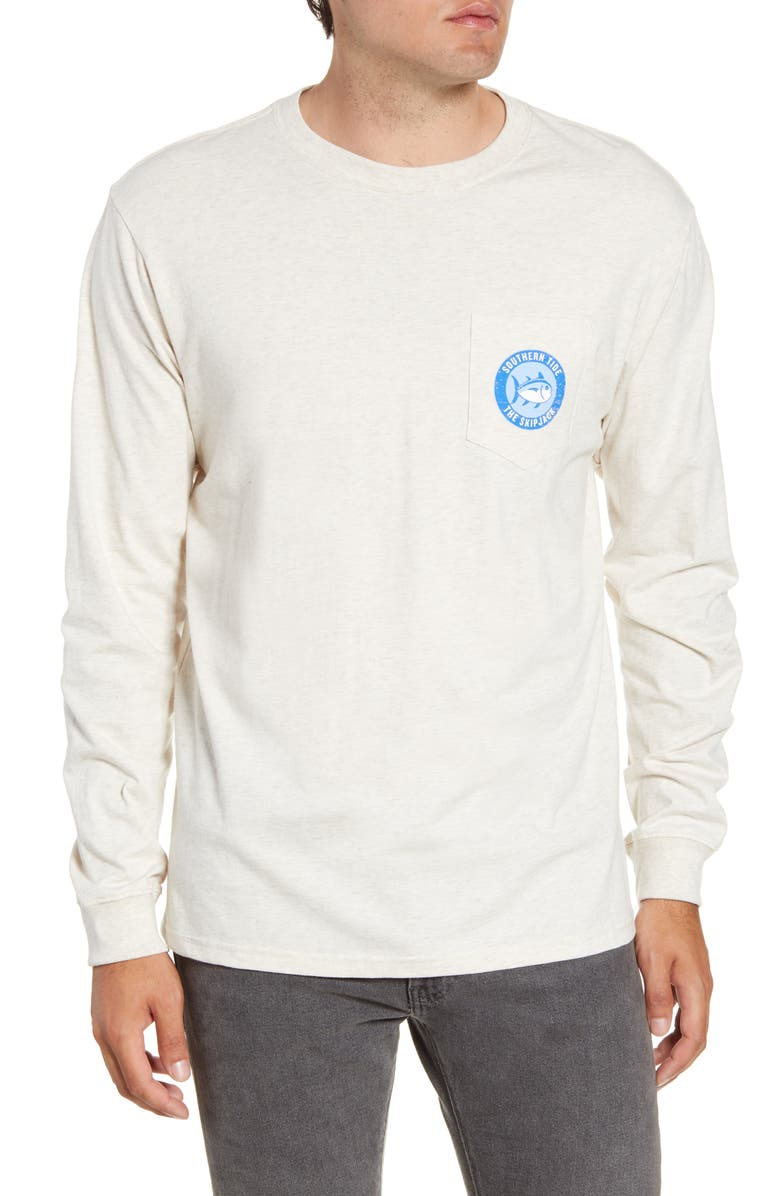 SOUTHERN TIDE Label Graphic Regular Fit Long Sleeve T-Shirt, Main, color, 079