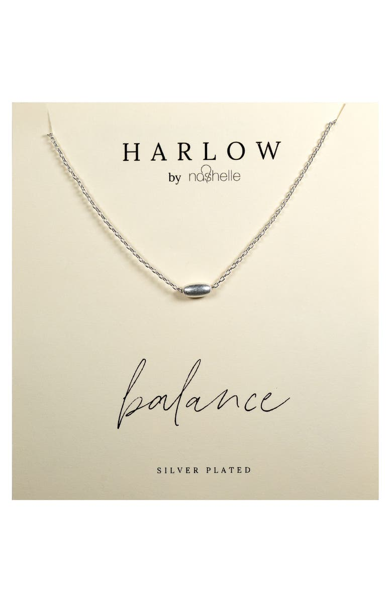 NASHELLE HARLOW by Nashelle Balance Bead Boxed Necklace, Main, color, SILVER