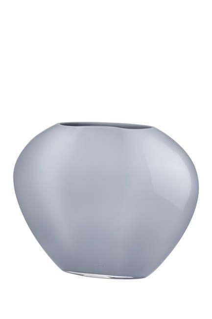 Image of Nude Glass Satin Vase - Medium - Opal Grey