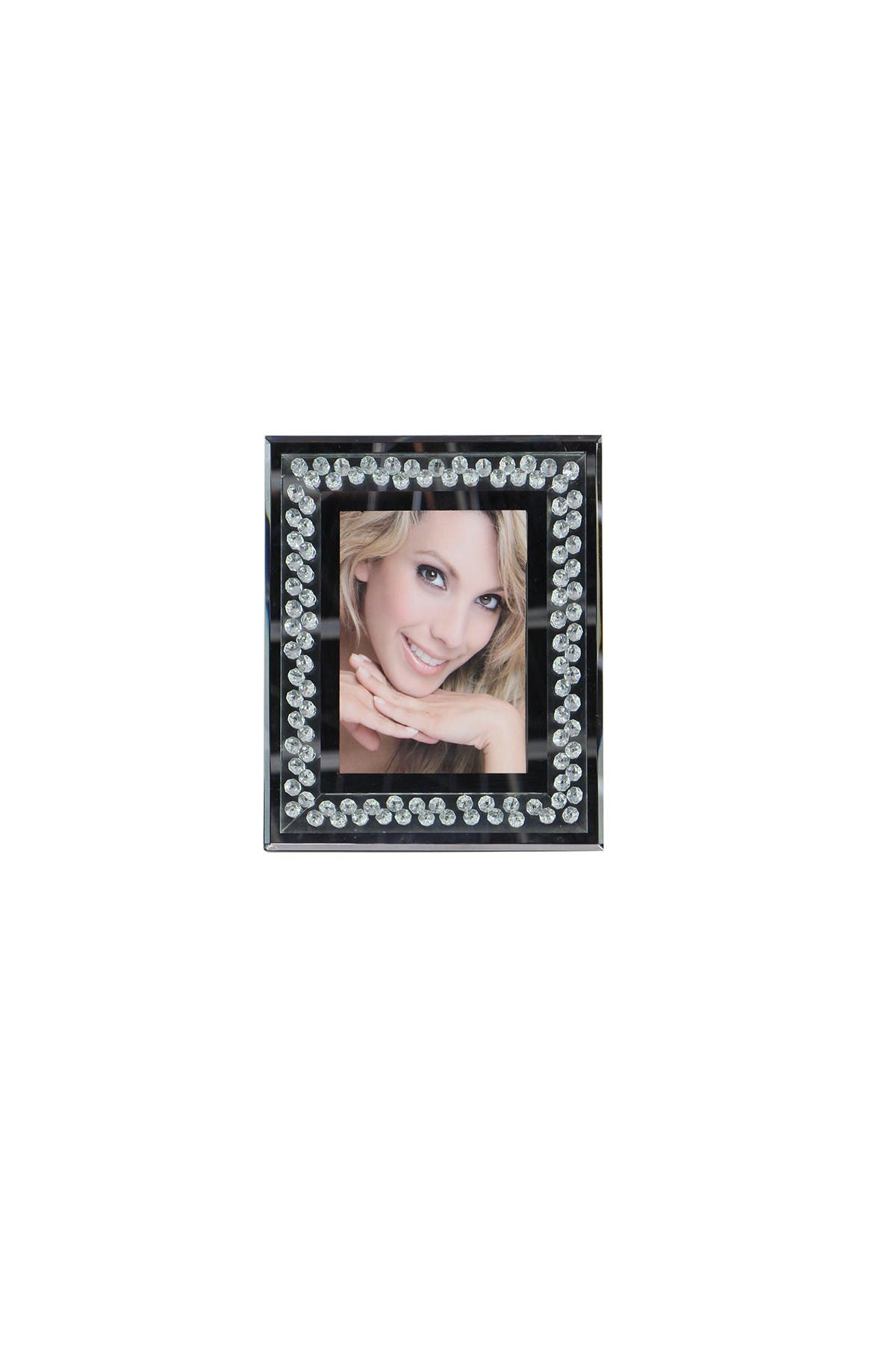 Image of Willow Row Modern Wood & Glass Photo Frame