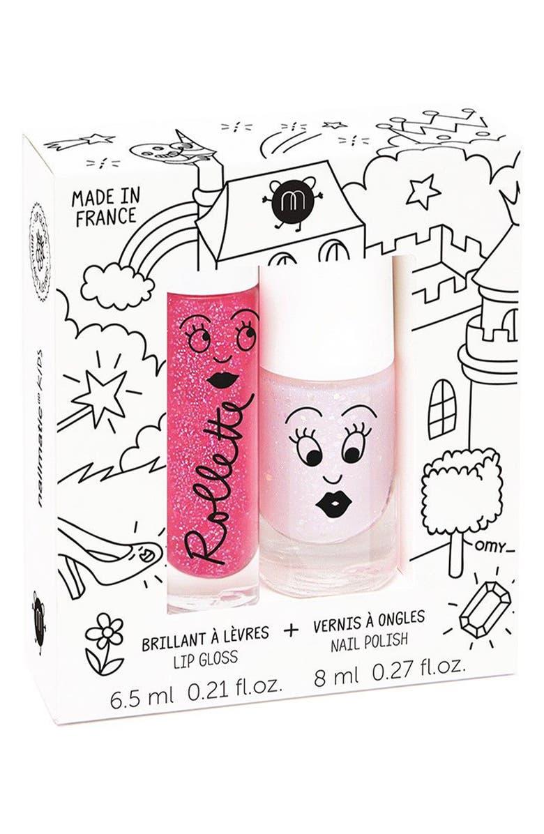 NAILMATIC Water-Based Nail Polish Set, Main, color, PINK LIGHT PINK GLITTER