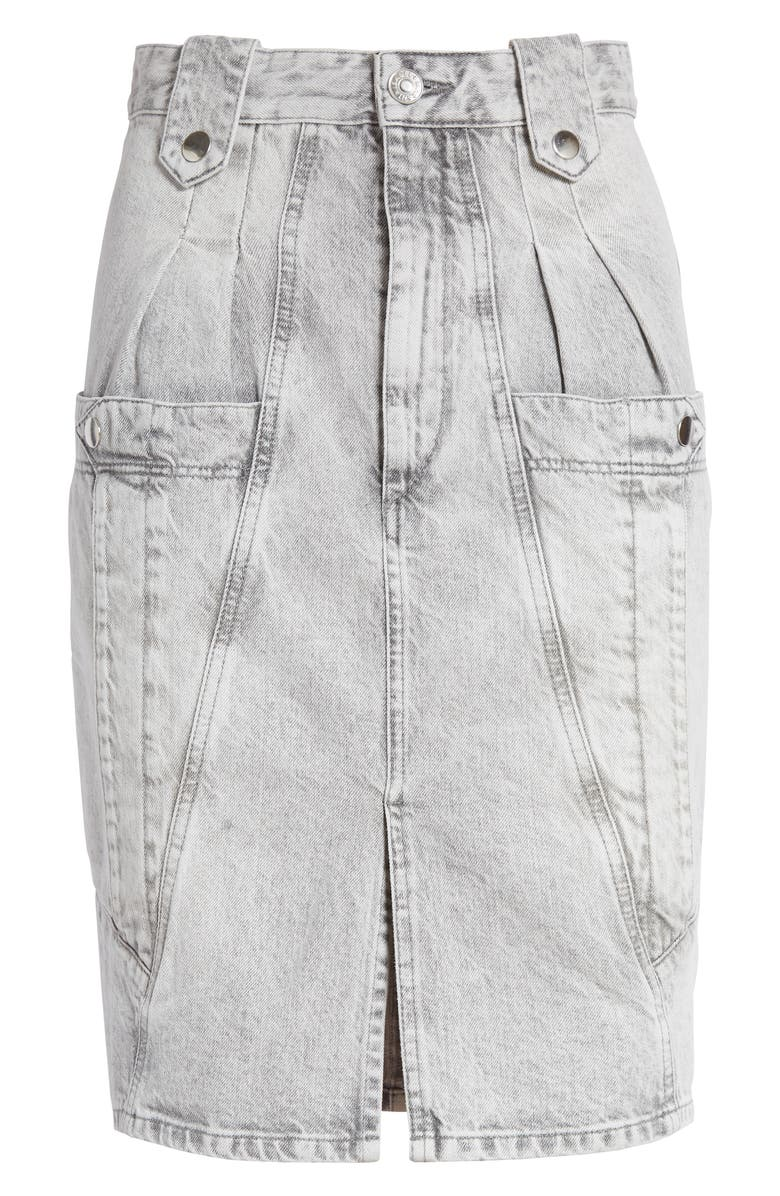 ISABEL MARANT Kalosia Denim Pencil Skirt, Main, color, 020
