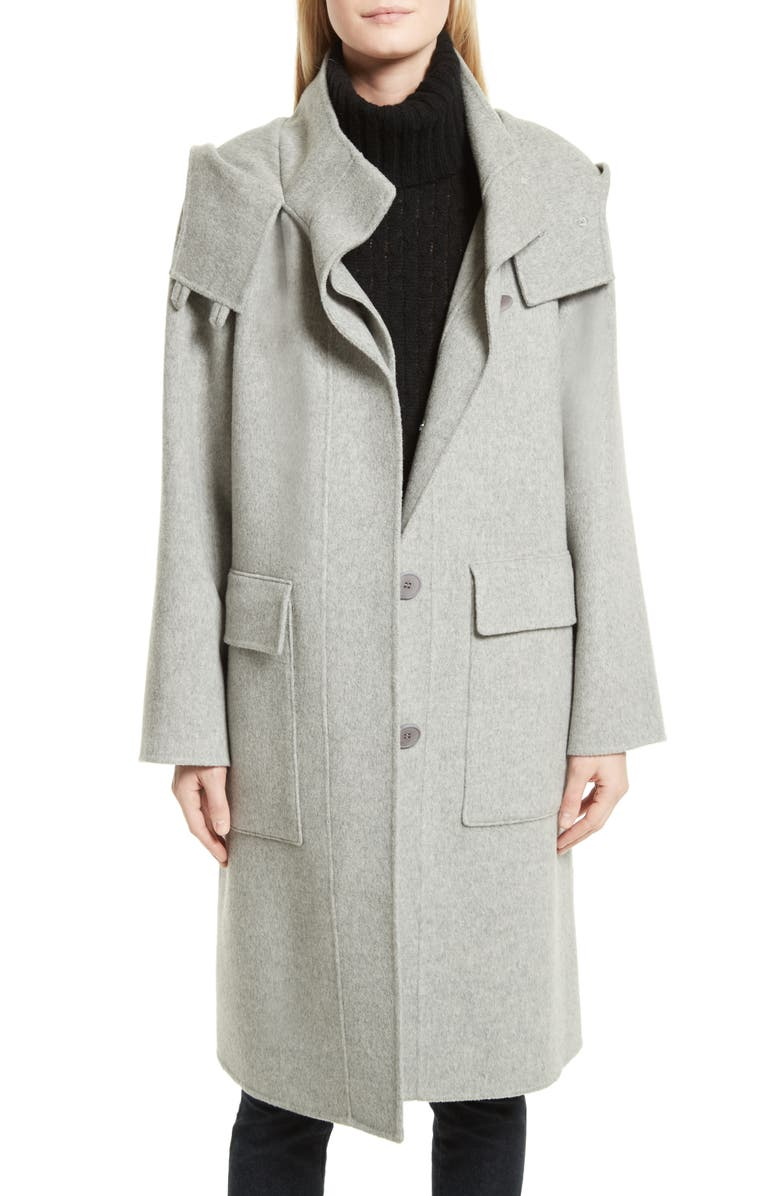 09578403955b Theory New Divide Duffle Wool & Cashmere Coat | Nordstrom