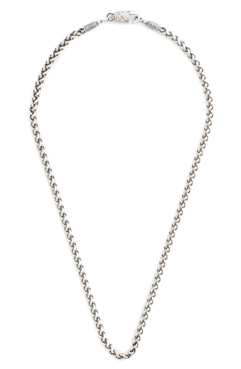 KONSTANTINO Sterling Silver Chain, Main, color, STERLING SILVER