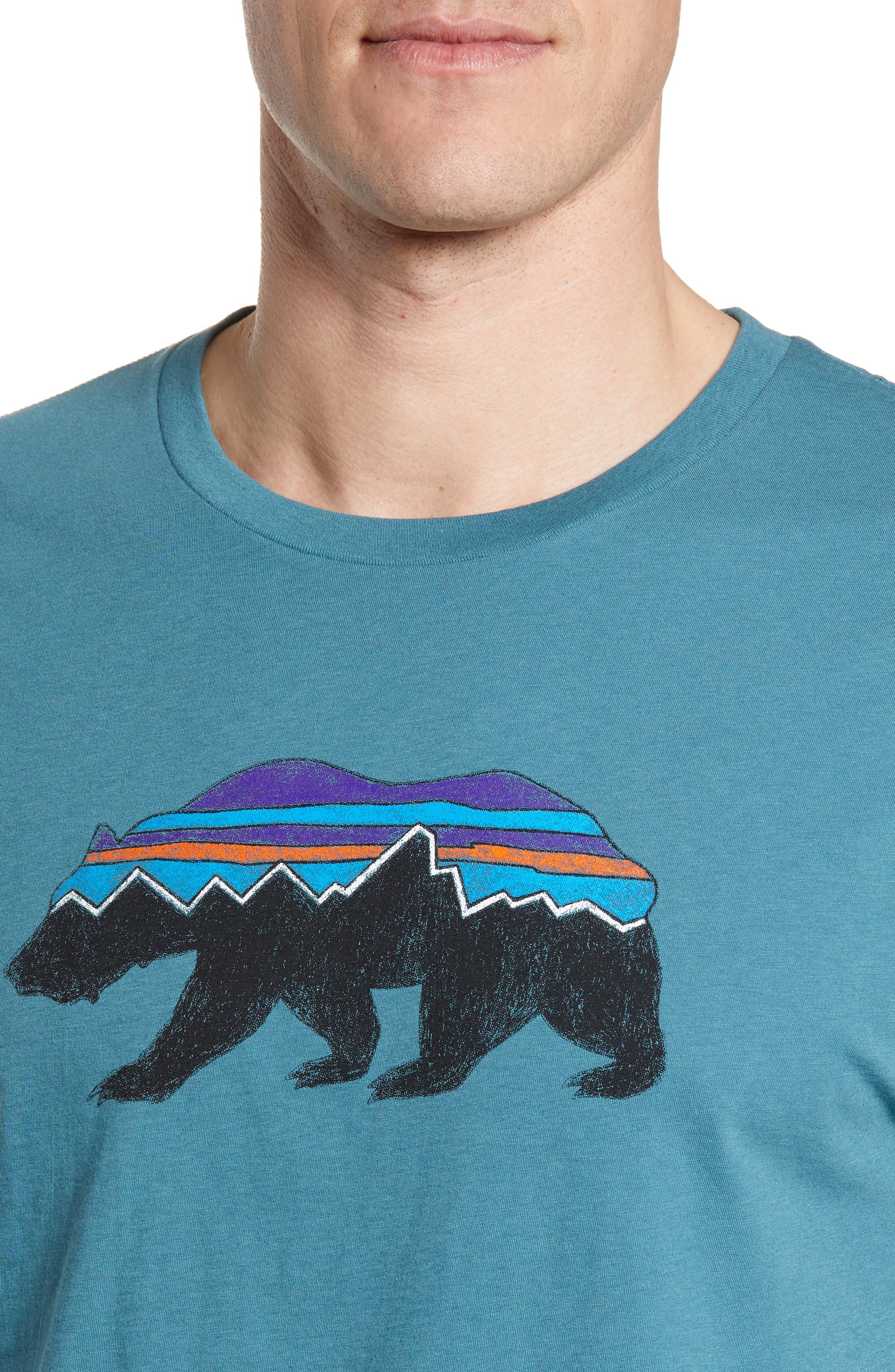 ,                             Fitz Roy Bear Crewneck T-Shirt,                             Alternate thumbnail 4, color,                             TASMANIAN TEAL