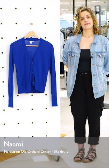 V-Neck Merino Wool Jersey Cardigan, sales video thumbnail