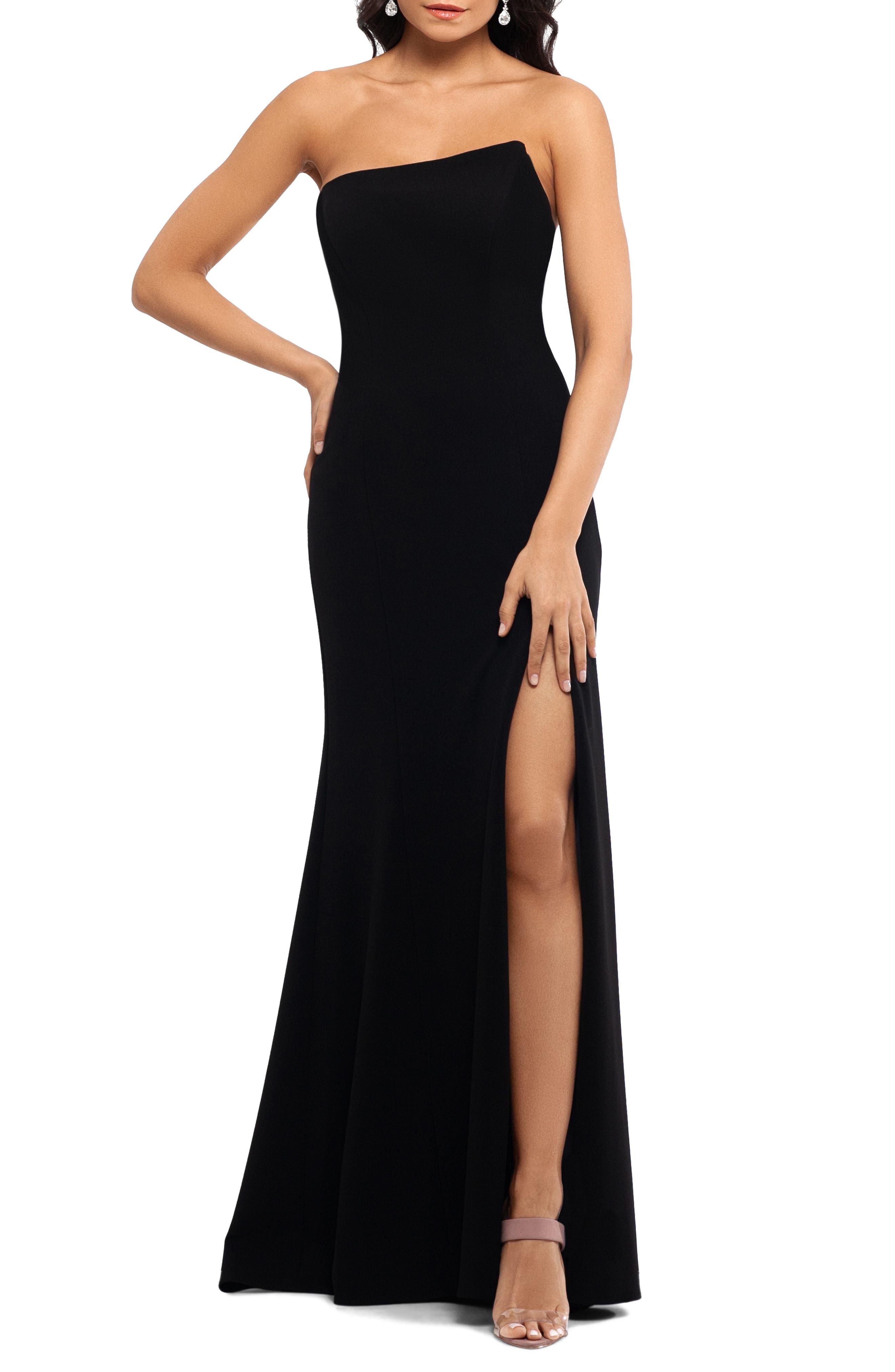 Xscape Strapless Scuba Crepe Mermaid Gown, Black