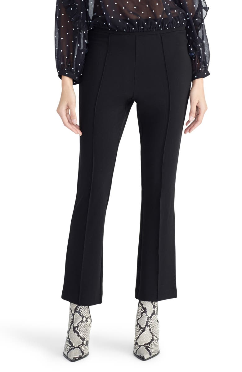 RACHEL ROY COLLECTION Flare Crepe Pants, Main, color, BLACK