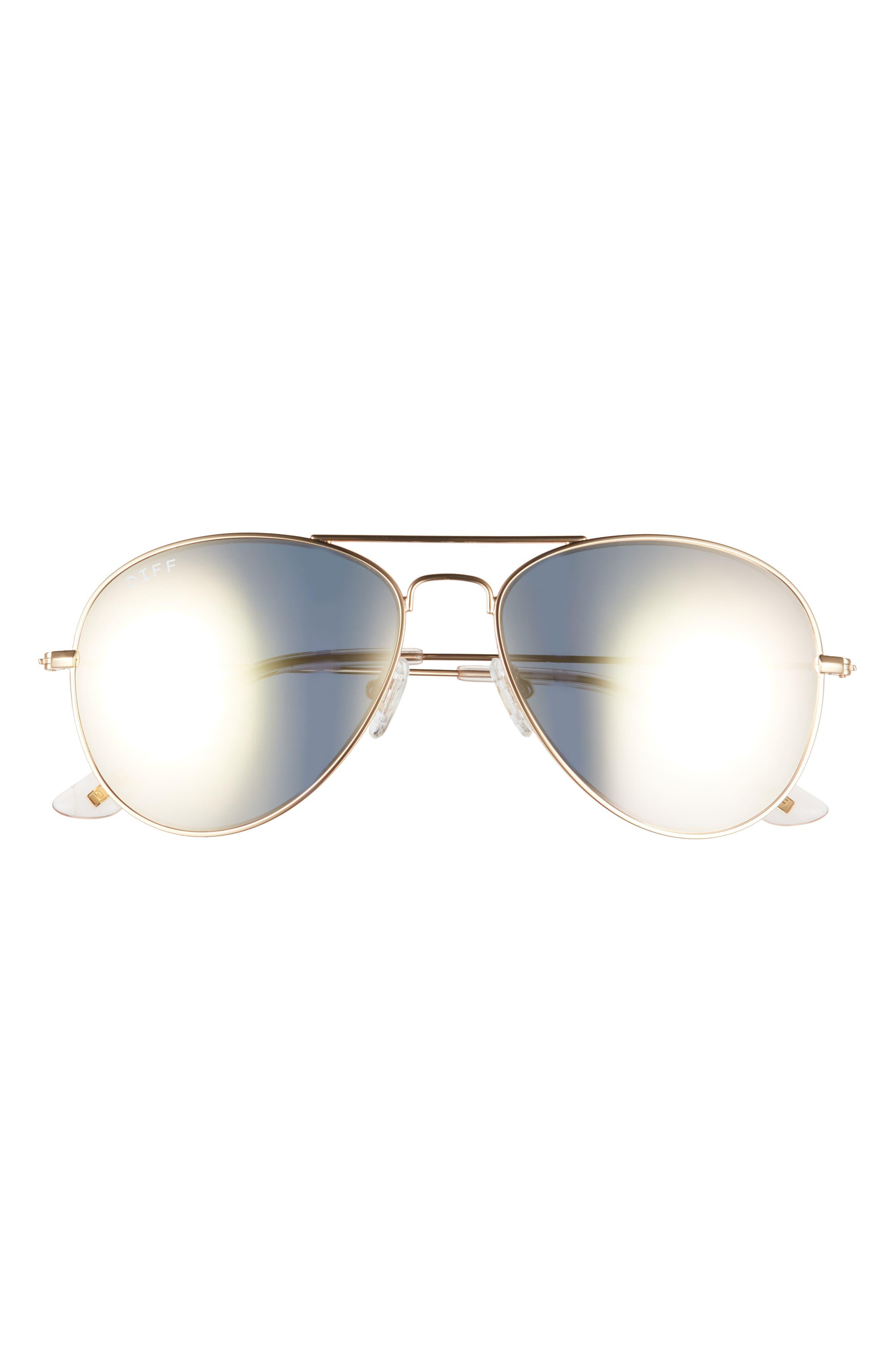 Cruz 57mm Polarized Aviator Sunglasses