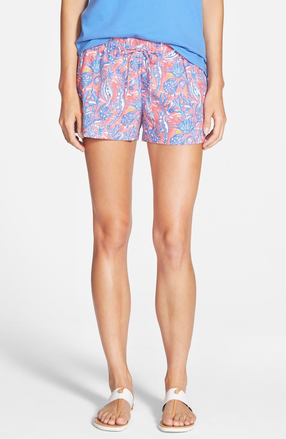 Seahorse Print Shorts, Main, color, 650