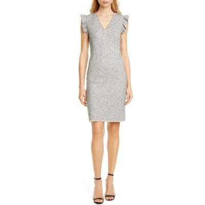 Tailored By Rebecca Taylor Tweed Sleeveless Sheath Dress, Blue