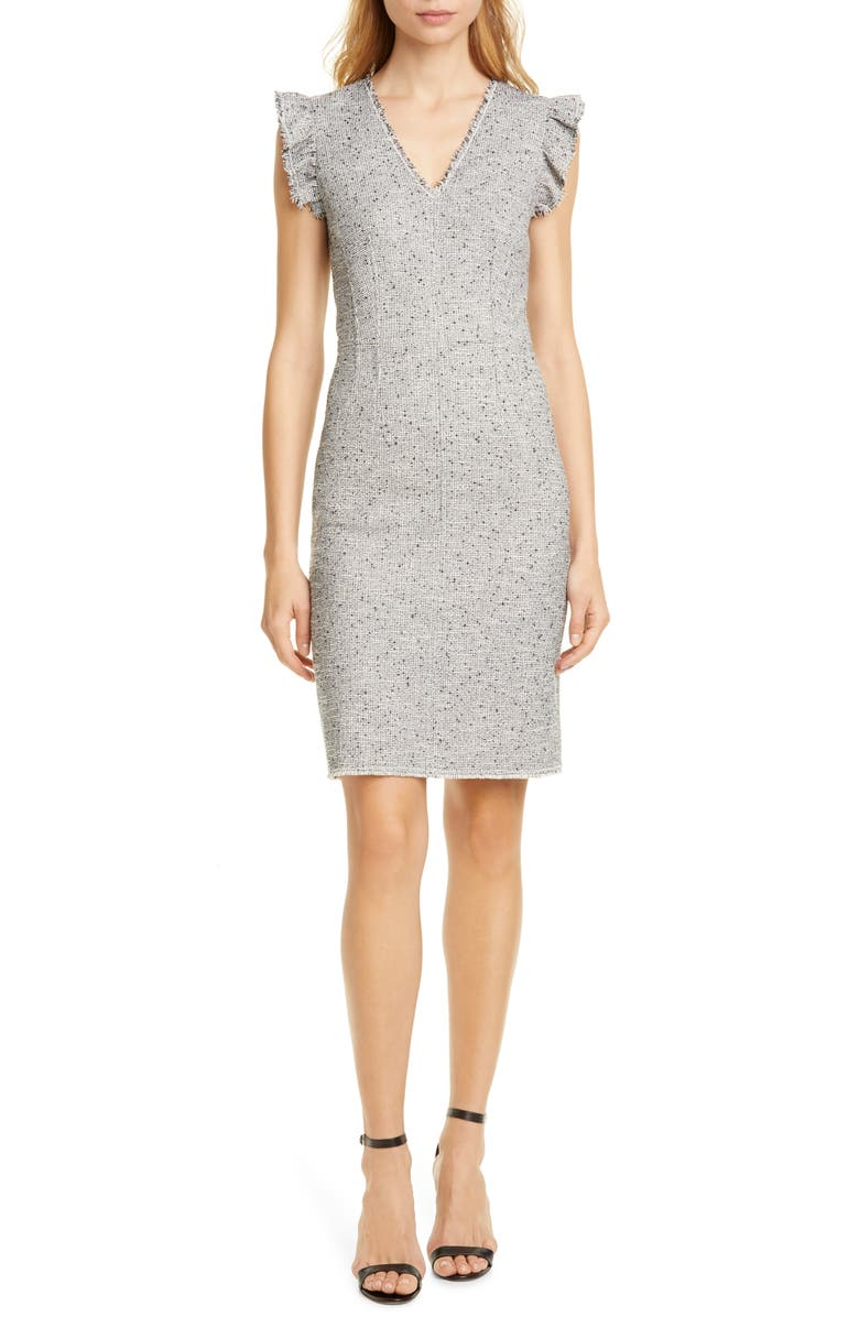 Tweed Sleeveless Sheath Dress by Tailored By Rebecca Taylor
