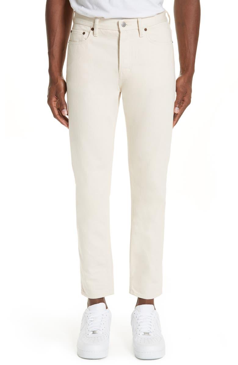 ACNE STUDIOS North Slim Fit Jeans, Main, color, IVORY
