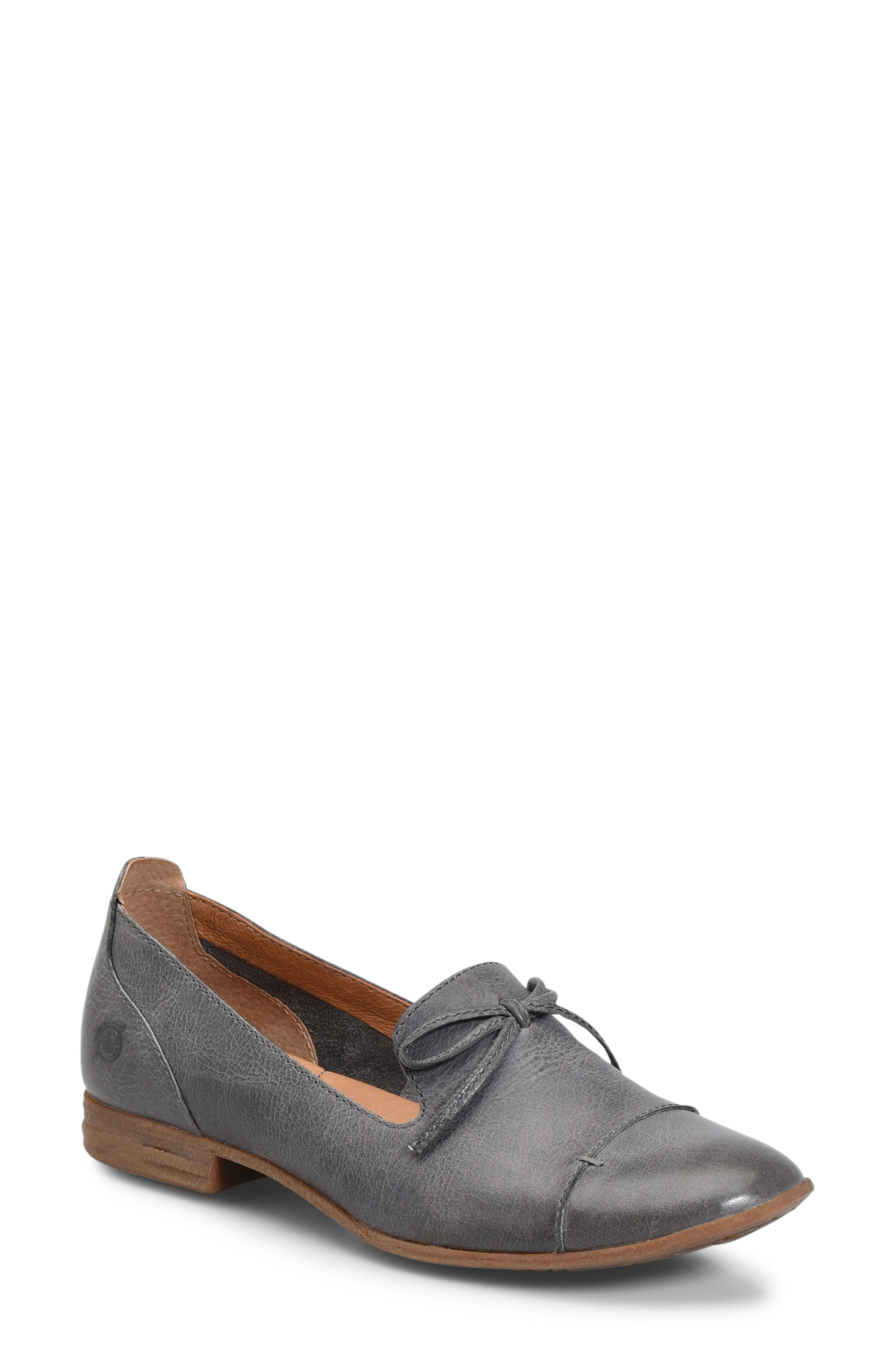 Gallatin Loafer, Main, color, GREY LEATHER