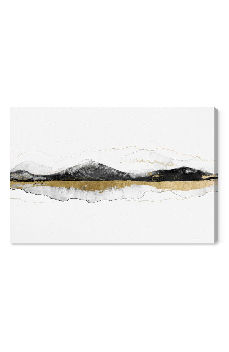 OLIVER GAL Behind These Mountains Canvas Wall Art, Main, color, BLACK WHITE GOLD