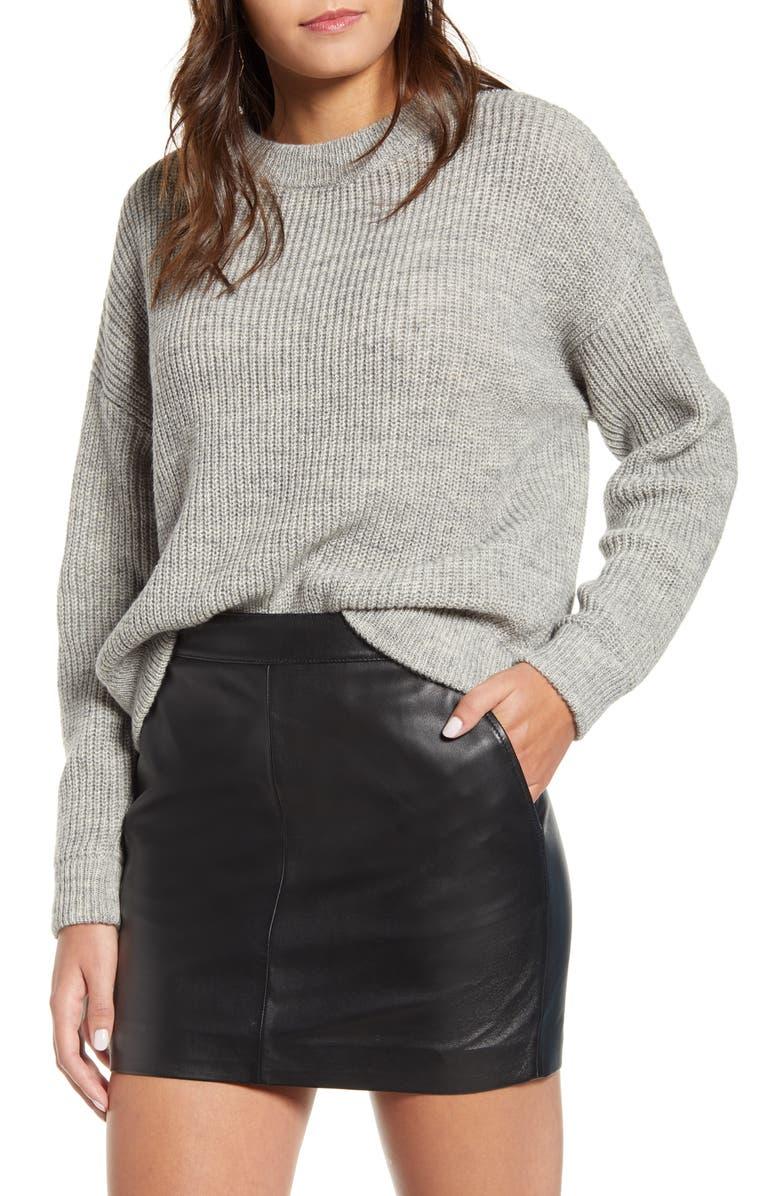 VERO MODA Imagine Knit Pullover, Main, color, LIGHT GREY MELANGE