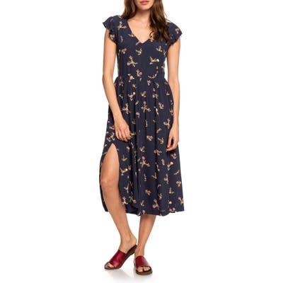 Roxy Rush Minute Ruffle Midi Dress, Blue