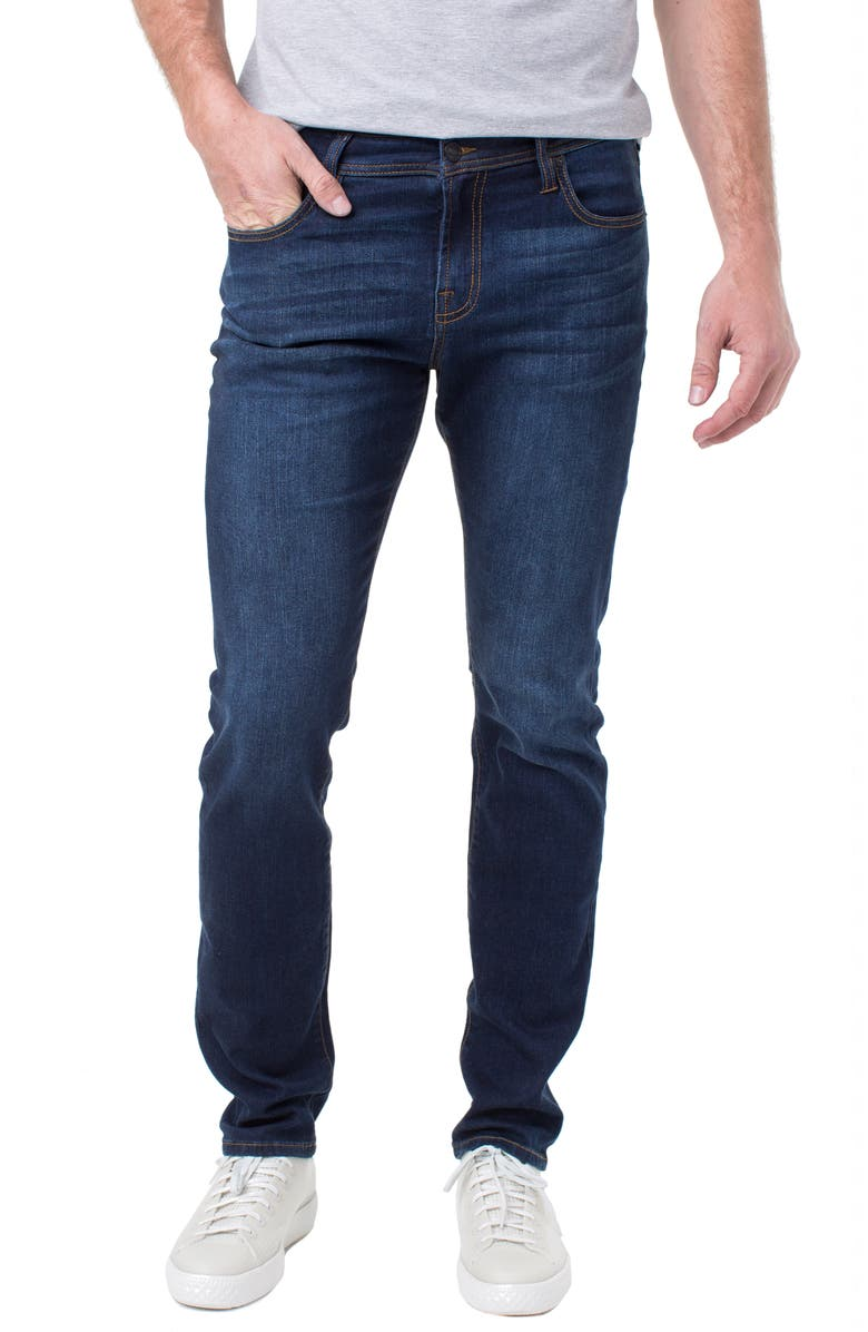 LIVERPOOL Kingston Slim Straight Leg Jeans, Main, color, ROSECRANS DARK