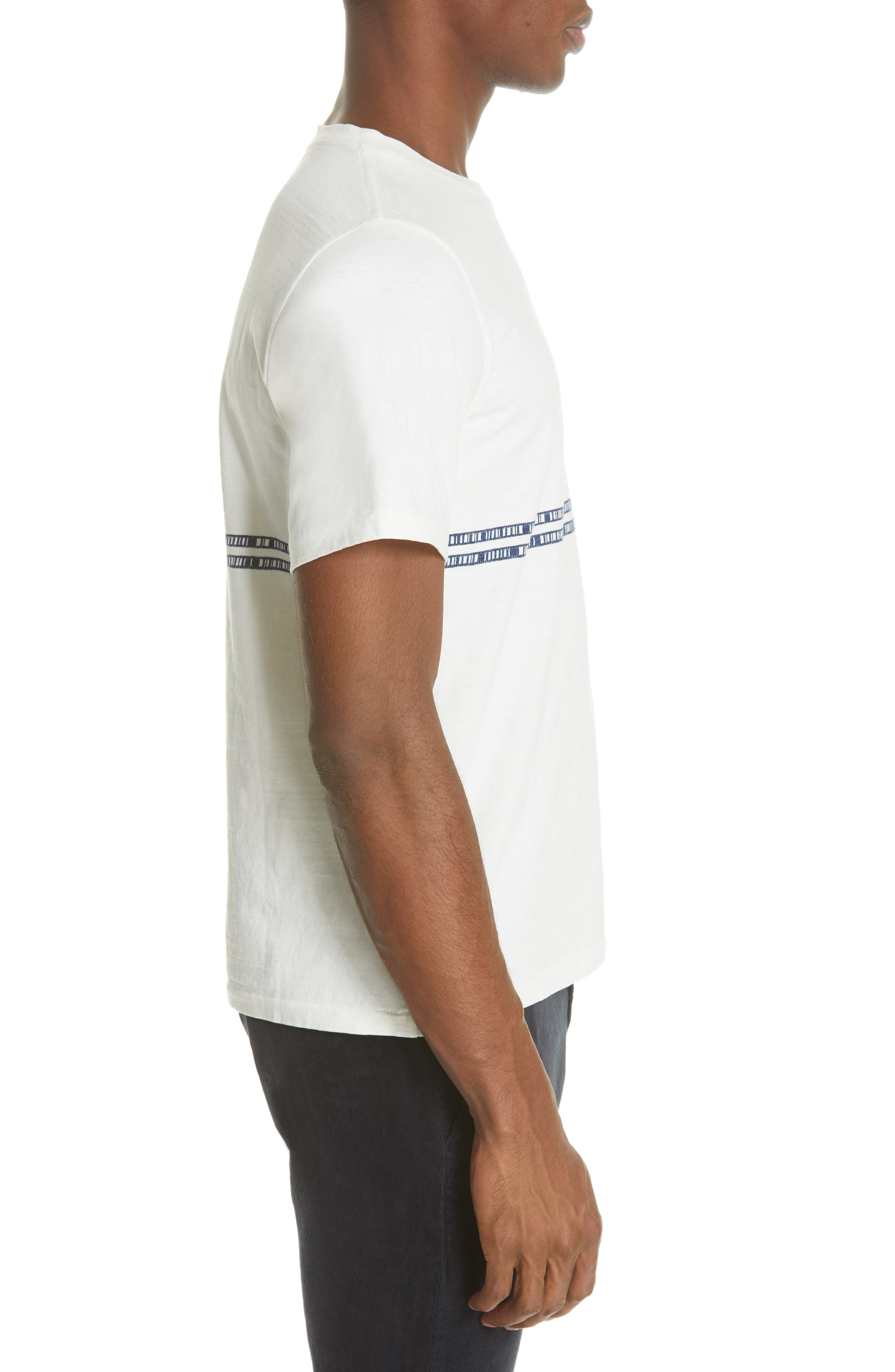 ,                             Embroidered Stripe T-Shirt,                             Alternate thumbnail 3, color,                             100