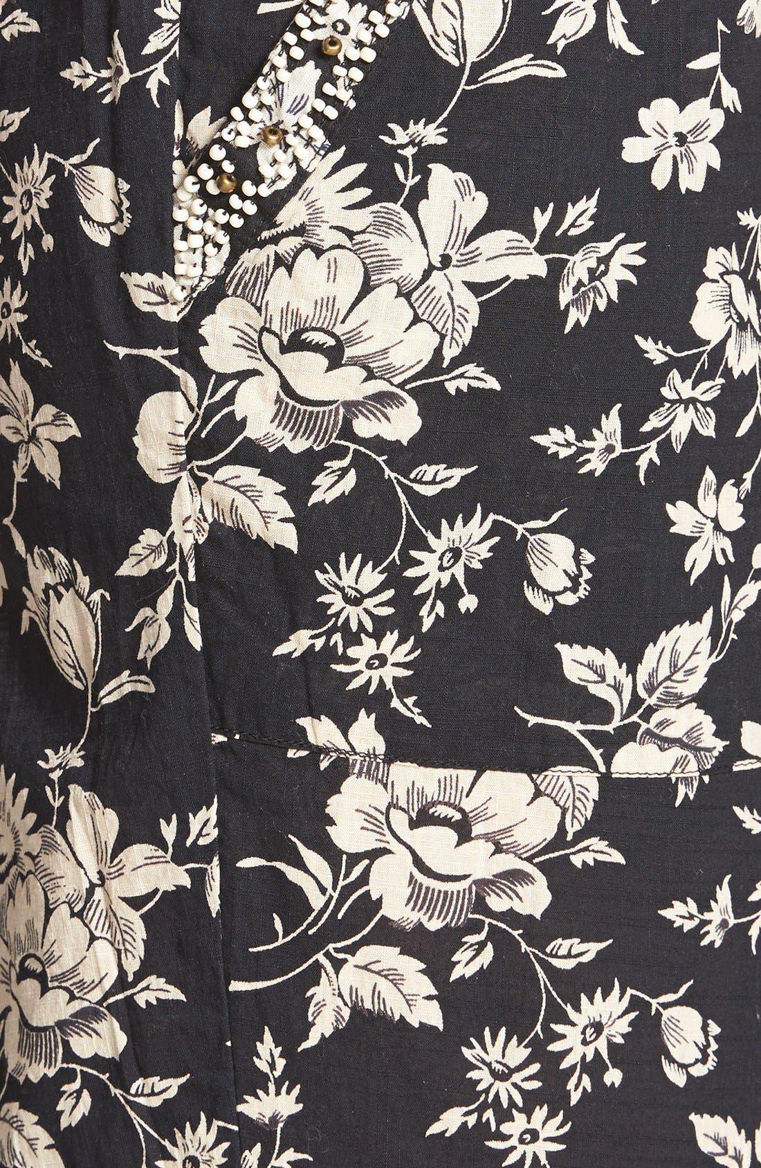 ,                             Beaded Floral Print Lounge Pants,                             Alternate thumbnail 3, color,                             001