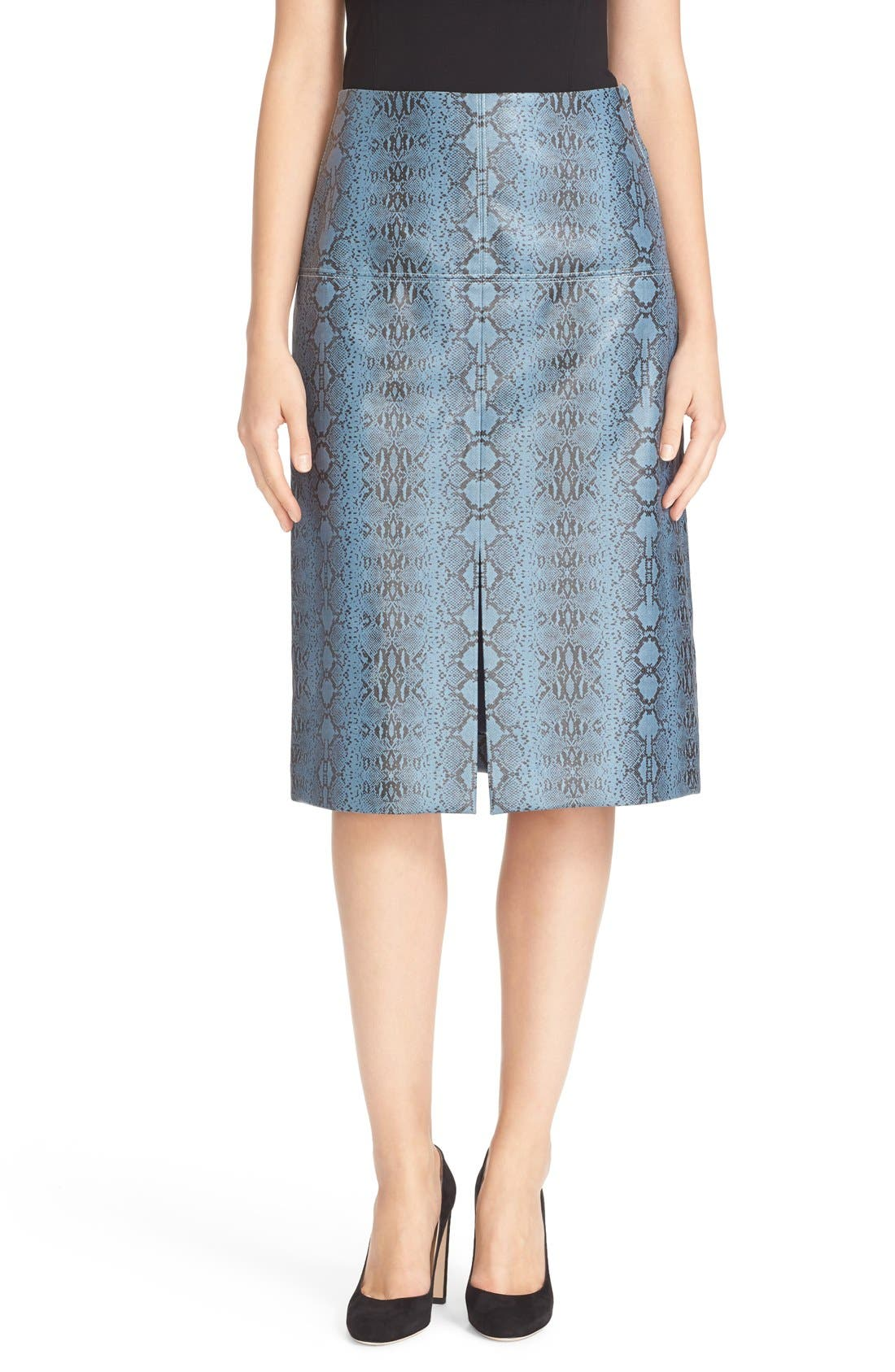 ,                             Snakeskin Print Skirt,                             Main thumbnail 1, color,                             494