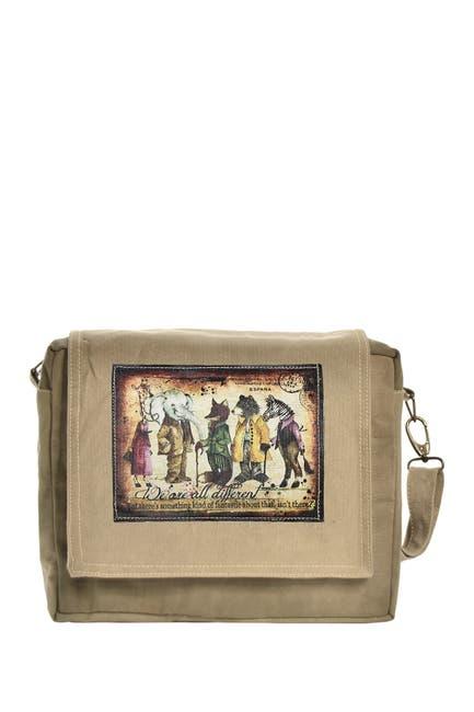 Image of Vintage Addiction We Are All Different Tent Crossbody Bag