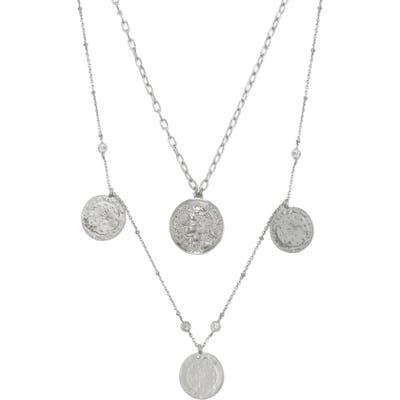 Ettika Set Of 2 Coin Pendant Necklaces