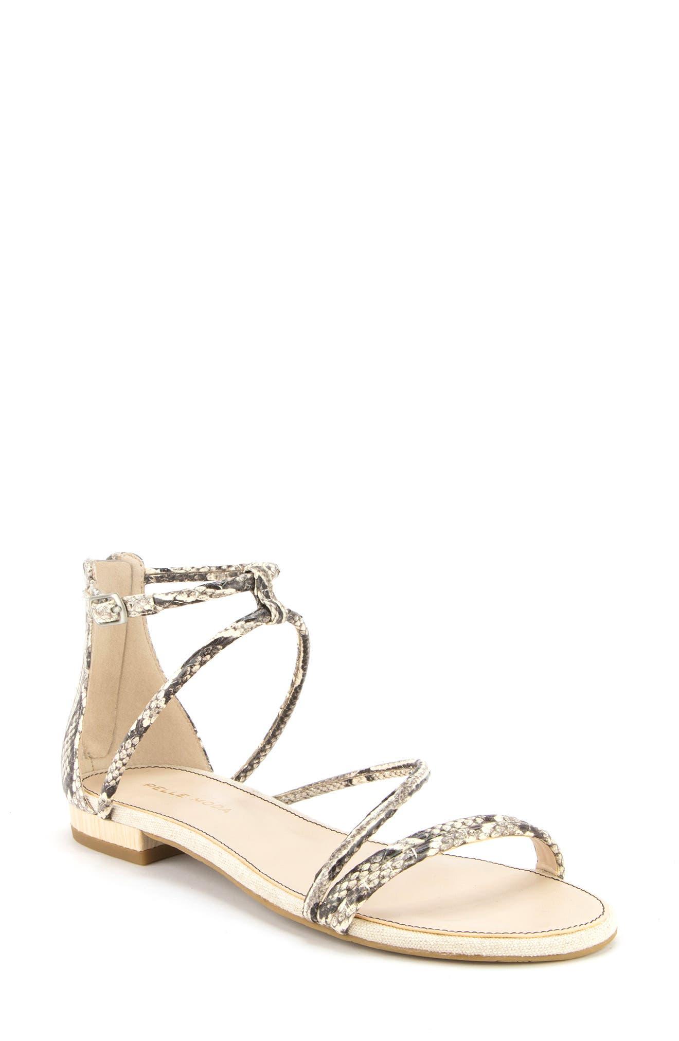 Women s Pelle Moda Baja Strappy Sandal E5144