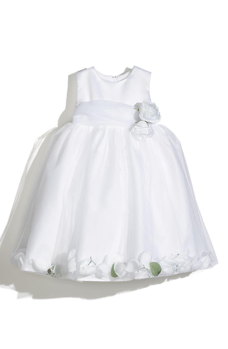 US ANGELS Petal Dress, Main, color, WHITE/ WHITE