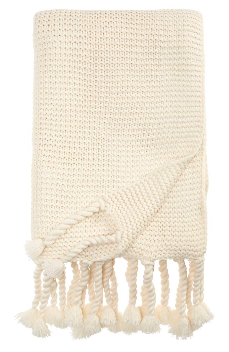 POM POM AT HOME Trestles Oversize Throw Blanket, Main, color, ANTIQUE WHITE
