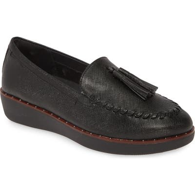 Fitflop Petrina Moc Toe Loafer, Black (Nordstrom Exclusive)