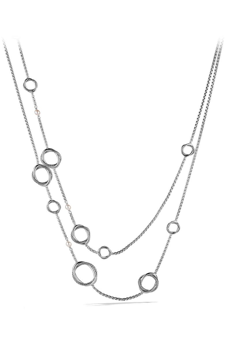 DAVID YURMAN Infinity Necklace with Pearls, Main, color, PEARL