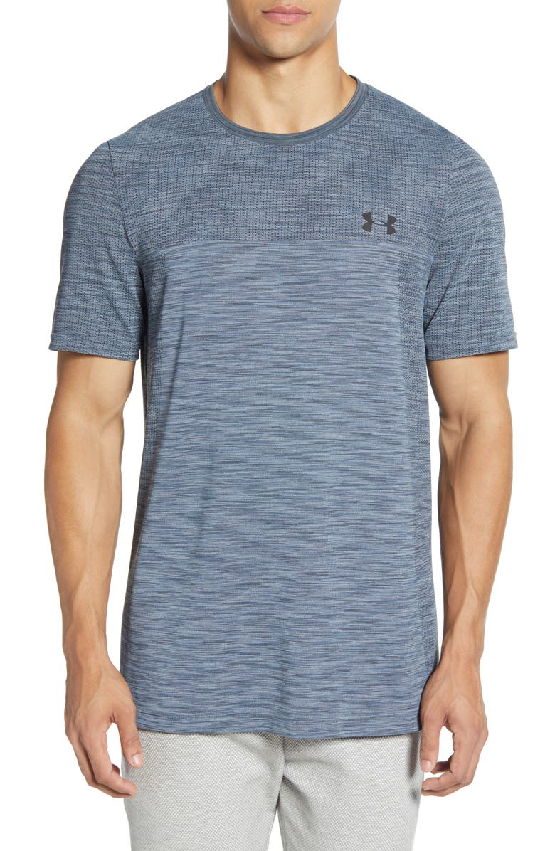 UNDER ARMOUR Siphon Performance T-Shirt, Main, color, WIRE/ BLACK