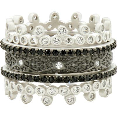 Freida Rothman Industrial Finish 5-Set Stackable Rings