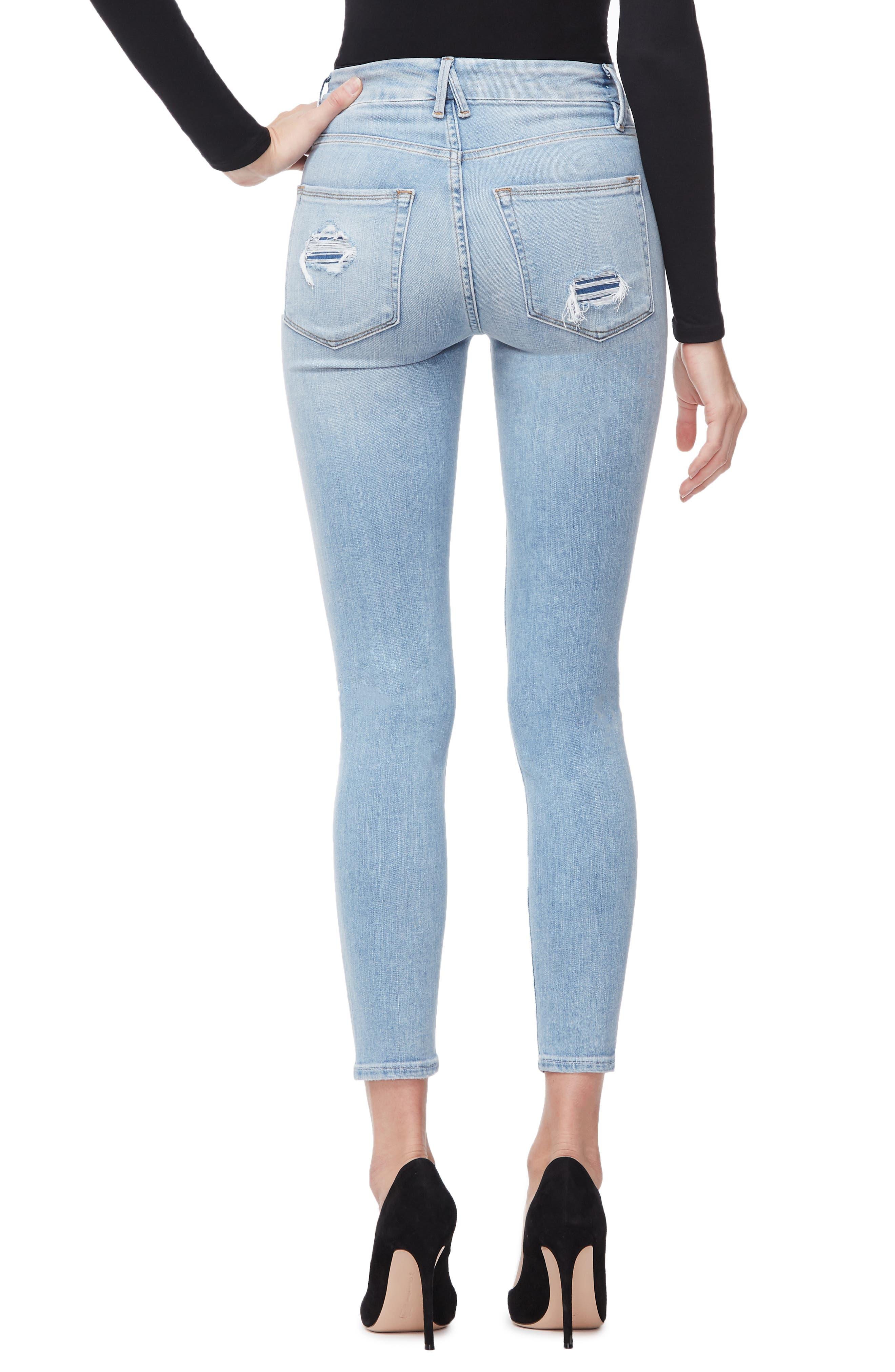 ,                             Good Legs Ankle Skinny Jeans,                             Alternate thumbnail 22, color,                             404