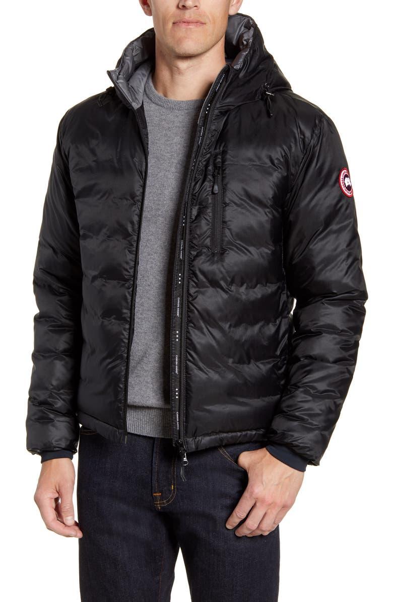 CANADA GOOSE 'Lodge' Slim Fit Packable Jacket, Main, color, 001