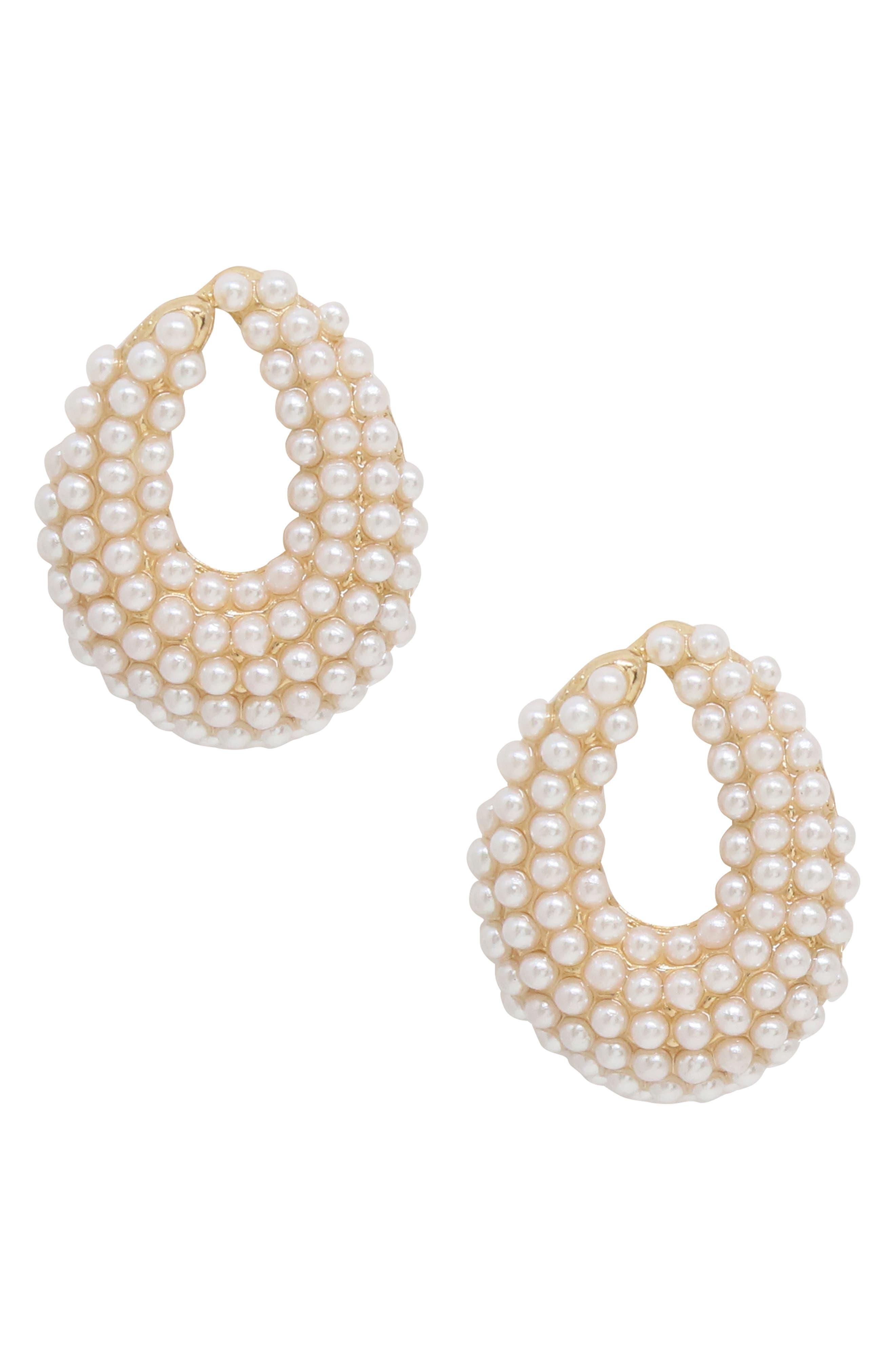 Imitation Pearl Earrings