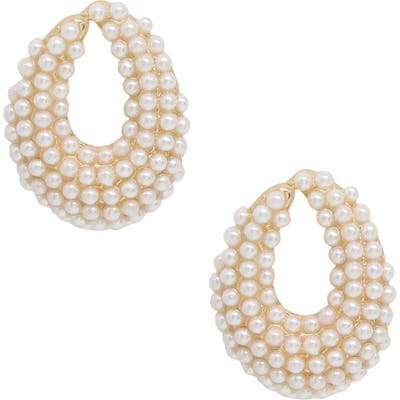 Ettika Imitation Pearl Earrings
